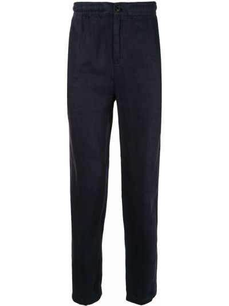 Niebieskie lniane lniane spodnie Kent & Curwen