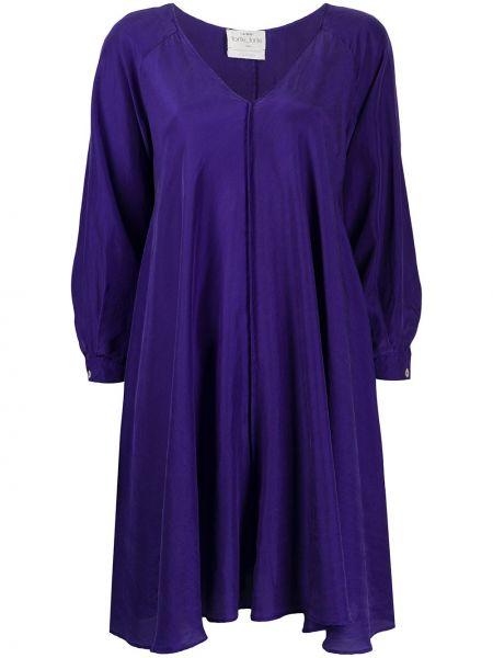 Платье мини на пуговицах с V-образным вырезом Forte Forte