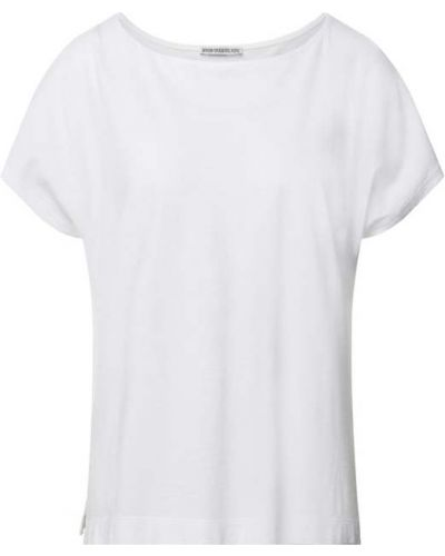 Biały t-shirt bawełniany Drykorn