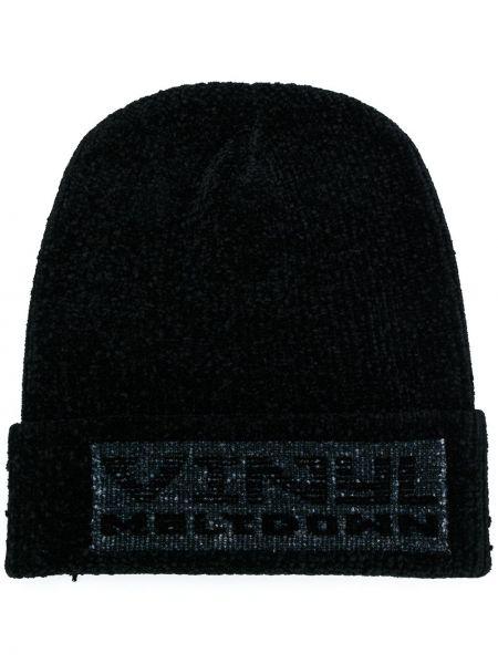 Prążkowana czarna czapka z nylonu Alexander Wang