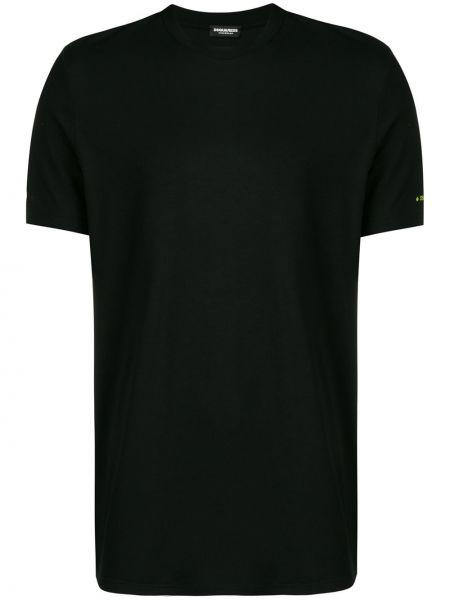Koszula krótkie z krótkim rękawem prosto z logo Dsquared2