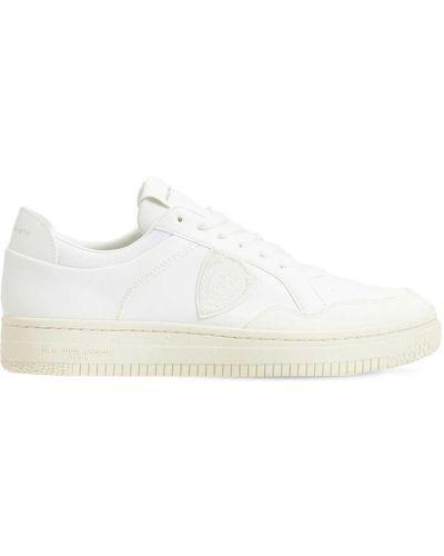 Кожаные кроссовки - белые Philippe Model