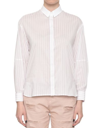 Белая рубашка хлопковая Patrizia Pepe