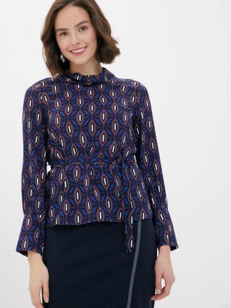 Блузка с длинным рукавом синяя осенняя Gerry Weber