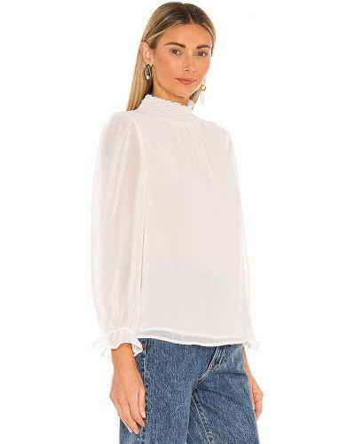 Шифоновая белая блузка с длинными рукавами 1. State