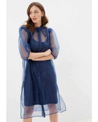 Синее вечернее платье Ichi