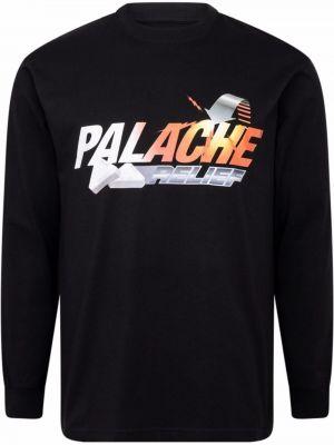 Czarna t-shirt bawełniana Palace
