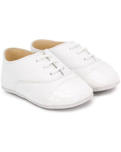Белые кожаные пинетки Sonatina Kids