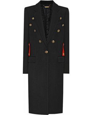 Шерстяное черное пальто Givenchy