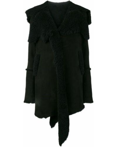 Черное пальто с капюшоном Sylvie Schimmel