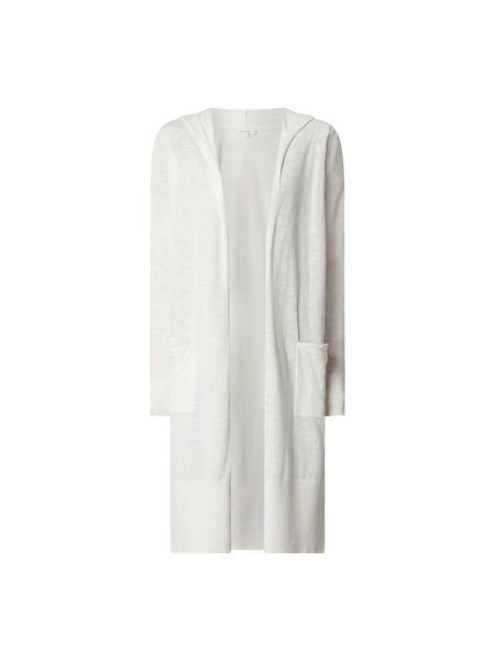 Biały kardigan z kapturem bawełniany S.oliver Red Label