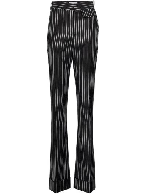 Шерстяные черные брюки Victoria Beckham