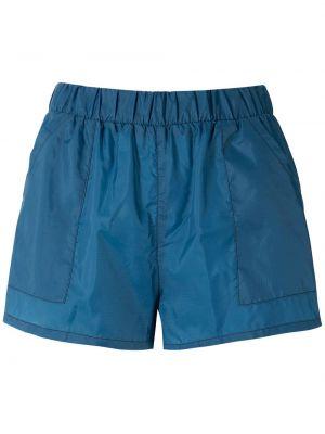 Нейлоновые синие шорты с карманами Uma Raquel Davidowicz