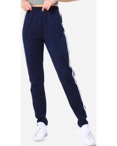 Спортивные брюки с завышенной талией - синие Demma