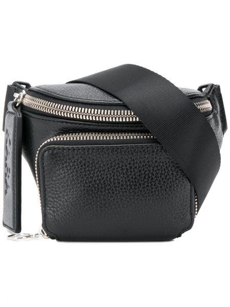 Skórzana torebka czarna Kara