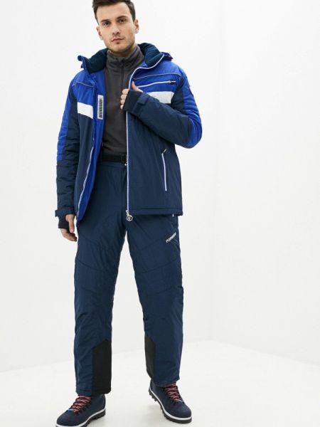 Синий теплый костюмный костюм Forward