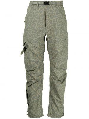 Коричневые брюки с накладными карманами Maharishi