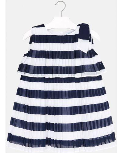Платье плиссированное темно-синий Mayoral