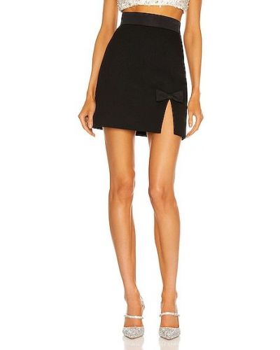 Шелковая черная юбка с подкладкой Miu Miu