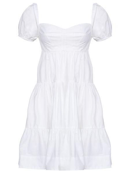 Хлопковое белое платье Pinko