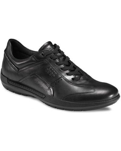 Черные кожаные полуботинки Ecco