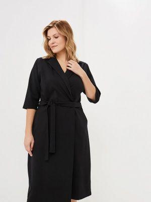 Повседневное платье осеннее черное Артесса