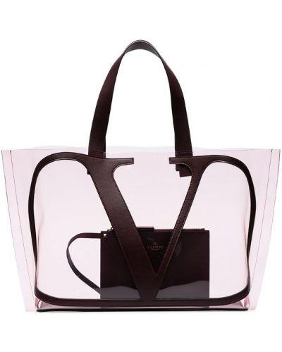 Кожаная сумка прозрачная пляжная Valentino