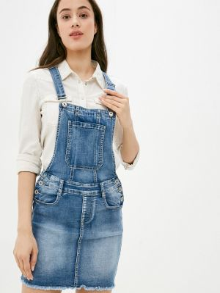 Синее джинсовое платье G&g