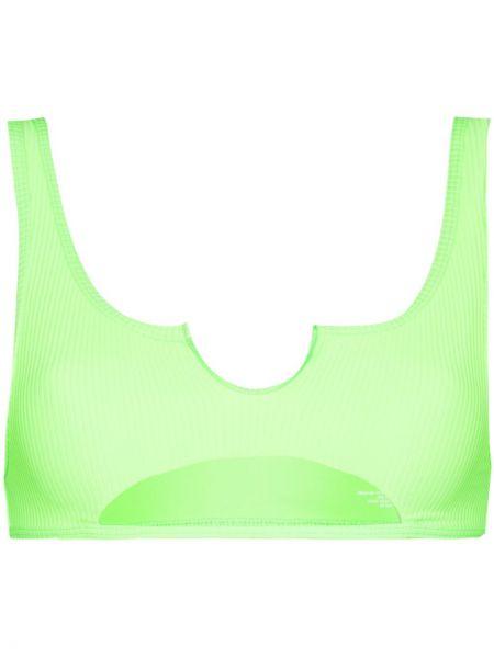 Пляжный зеленый нейлоновый лиф Frankie's Bikinis