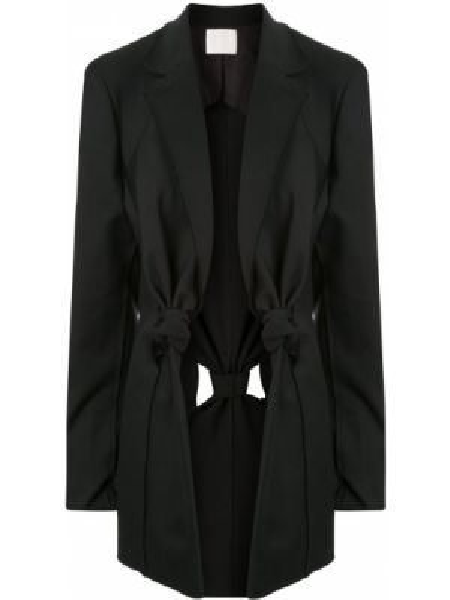 Черный удлиненный пиджак Dion Lee