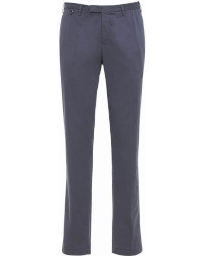Spodnie bawełniane na koturnie Pantaloni Torino