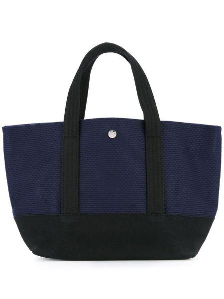 Синяя сумка-тоут круглая Cabas
