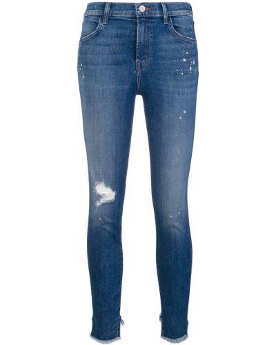 Укороченные джинсы скинни на пуговицах J Brand