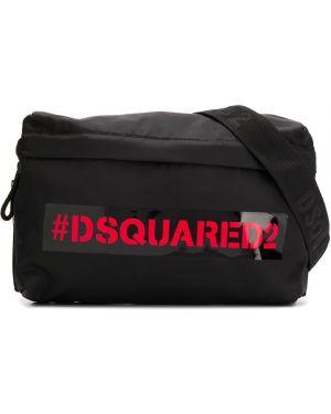Черная сумка на плечо Dsquared2 Kids