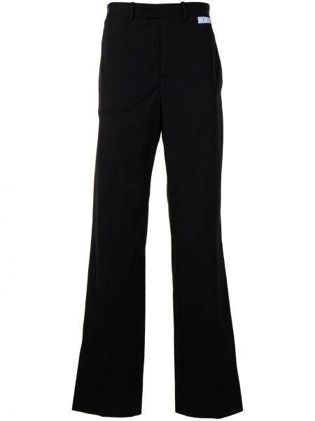 Czarny spodni z wysokim stanem spodnie Off-white