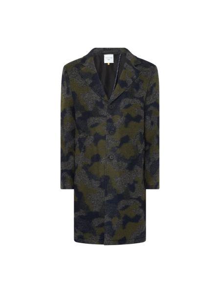 Niebieski wełniany płaszcz z kołnierzem z kieszeniami New In Town