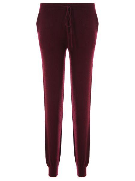 Кашемировые бордовые спортивные брюки с карманами с манжетами Gentryportofino