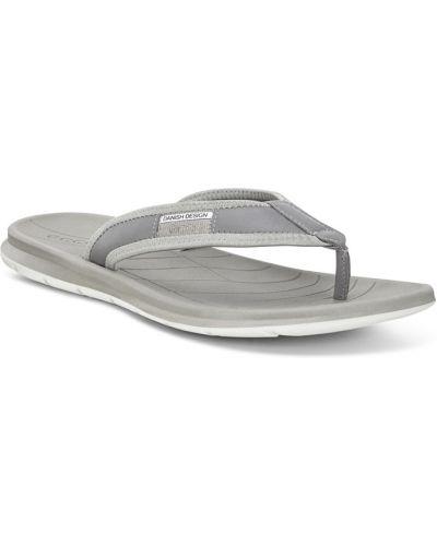 Пляжные шлепанцы с подкладкой серый Ecco