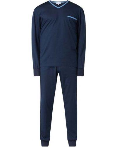 Niebieska spodni piżama bawełniana z długimi rękawami Mey