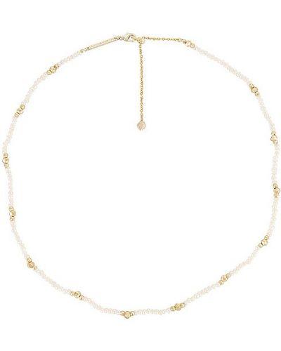 Biały złoty naszyjnik perły Kendra Scott