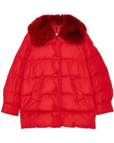 Стеганая куртка с карманами красная Moncler