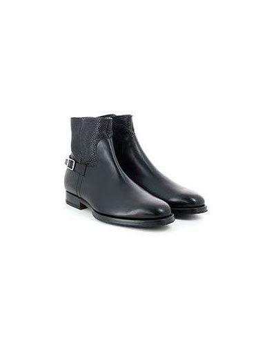 Деловые черные кожаные сапоги Pellettieri Di  Parma