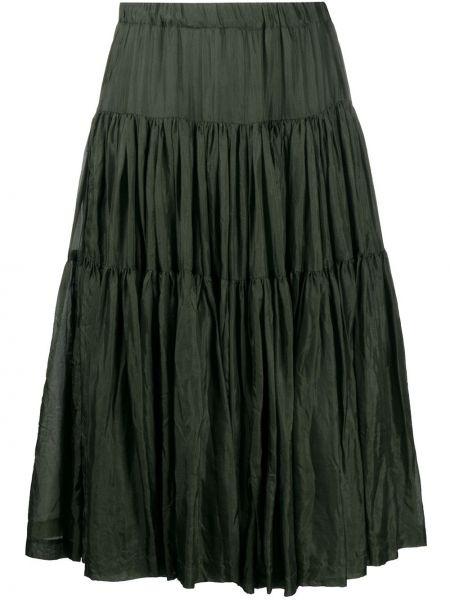 Зеленая юбка миди с поясом Casey Casey