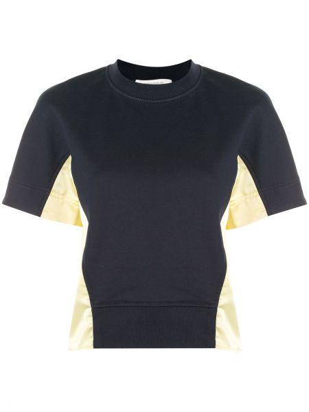 Żółty top krótki rękaw bawełniany Cedric Charlier