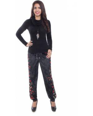 Свободные брюки со складками бархатные Wisell