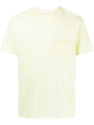 T-shirt bawełniana - żółta Rag & Bone