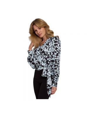 Bluzka elegancka kopertowa z paskiem Makover