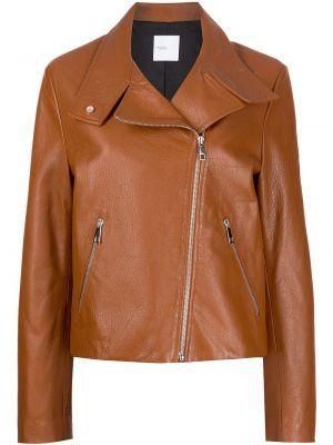 Кожаная куртка на молнии - коричневая Rosetta Getty