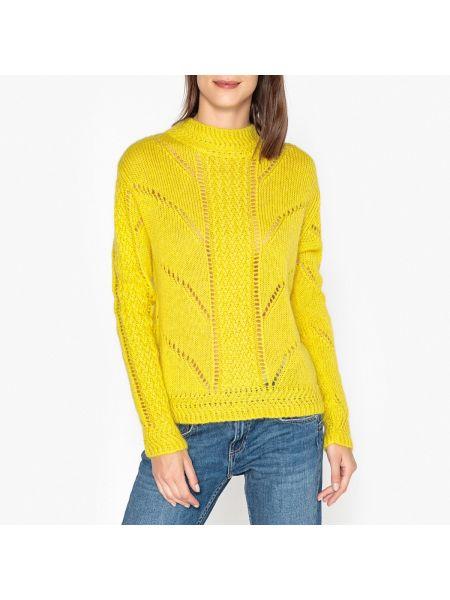 Ажурный пуловер в рубчик длинный Berenice