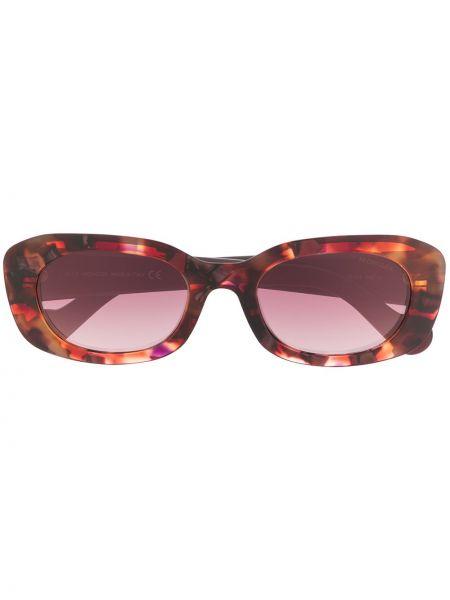 Прямые муслиновые фиолетовые солнцезащитные очки круглые Moncler Eyewear